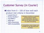 customer survey in courier