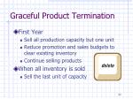 graceful product termination
