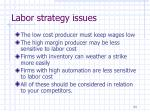labor strategy issues