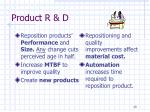 product r d