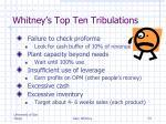 whitney s top ten tribulations1