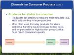 channels for consumer products cont