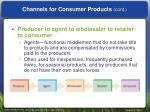 channels for consumer products cont2