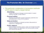 the promotion mix an overview cont