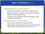 types of wholesalers cont1