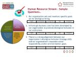 human resource stream sample questions