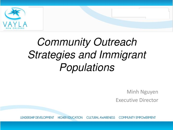 community outreach strategies and immigrant populations n.