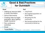 good bad p ractices for outreach