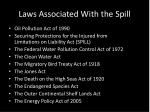 laws associated with the spill