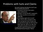 problems with suits and claims2