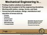 mechanical engineering is