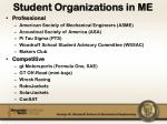 student organizations in me