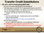 transfer credit substitutions1