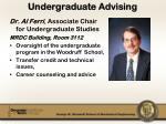 undergraduate advising