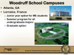 woodruff school campuses