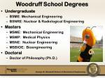 woodruff school degrees