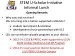 stem u scholar initiative informal lunch