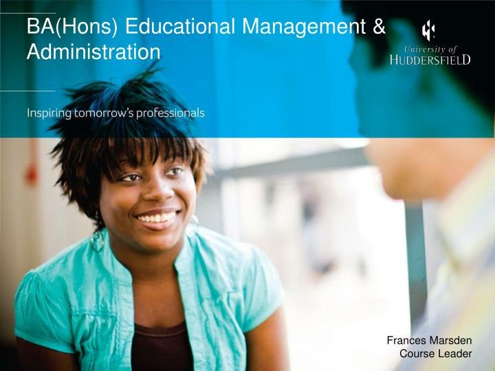 ba hons educational management administration n.