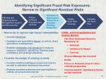 identifying significant fraud risk exposures narrow to significant residual risks