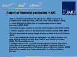 extent of financial exclusion in uk