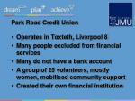 park road credit union