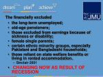 the financially excluded