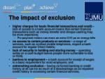 the impact of exclusion