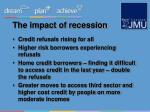 the impact of recession