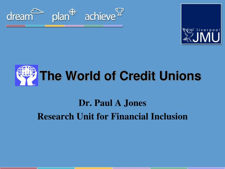 the world of credit unions n.