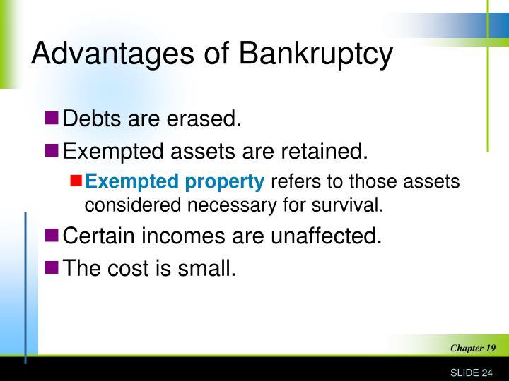 Advantages of Bankruptcy