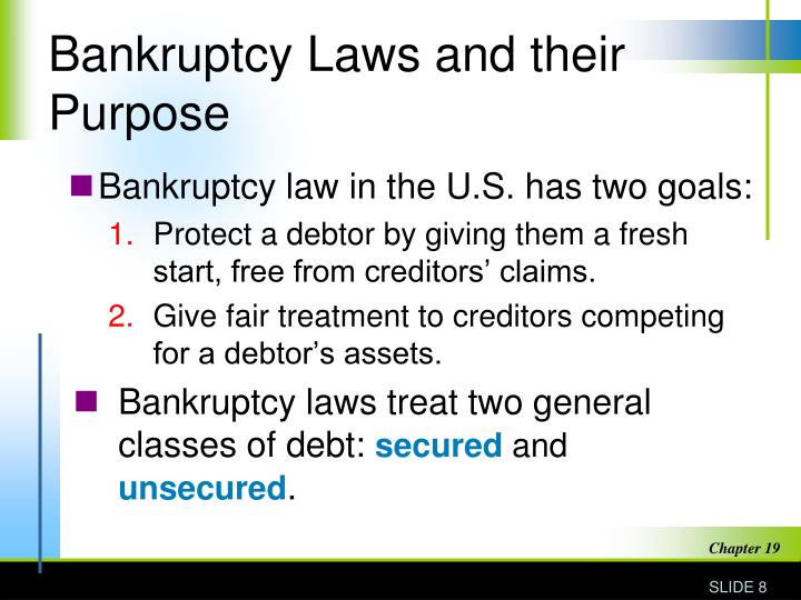 Bankruptcy Laws and their Purpose