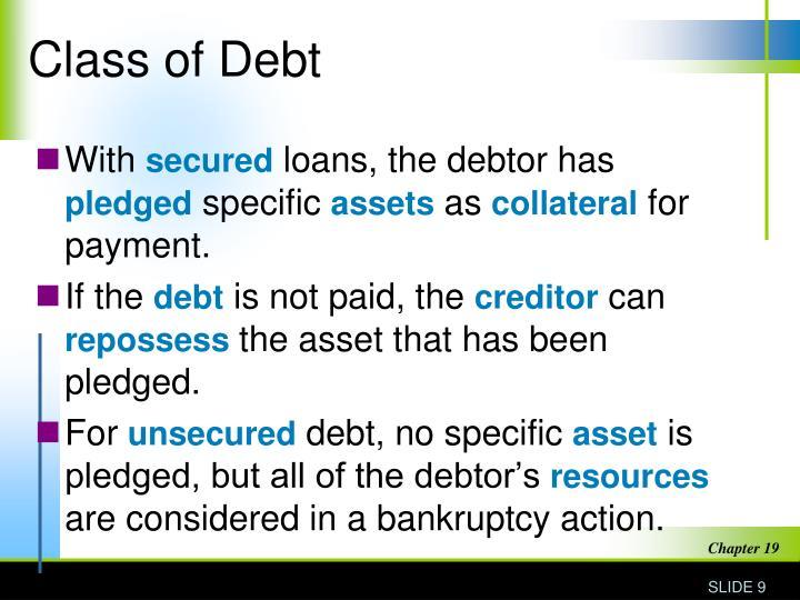 Class of Debt