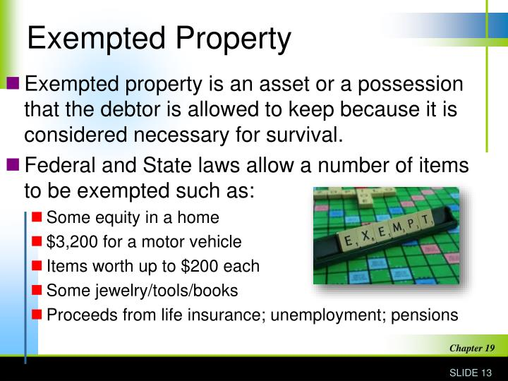 Exempted Property