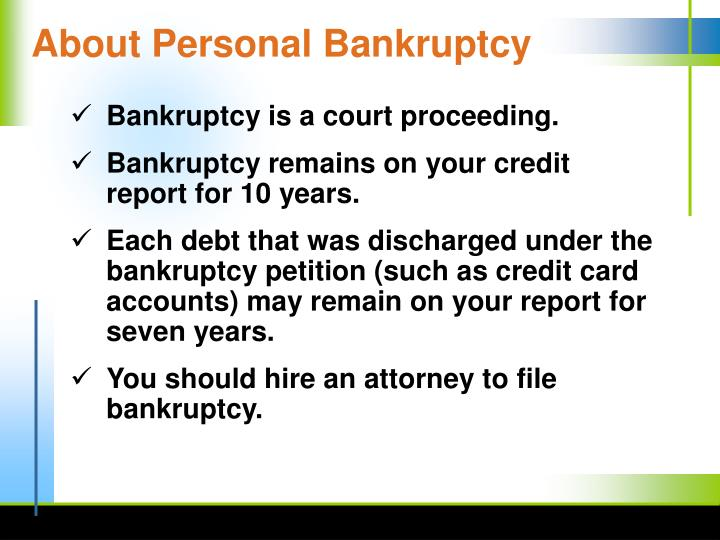 About Personal Bankruptcy