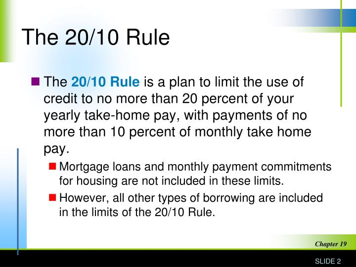 The 20 10 rule