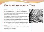 time electronic commerce