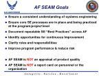 af seam goals