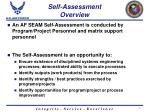 self assessment overview