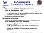 self assessment preparation execution