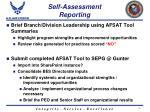 self assessment reporting