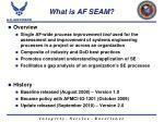 what is af seam