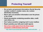 protecting yourself