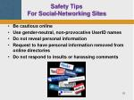 safety tips for social networking sites