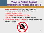 ways to protect against unauthorized access and use 2