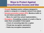 ways to protect against unauthorized access and use