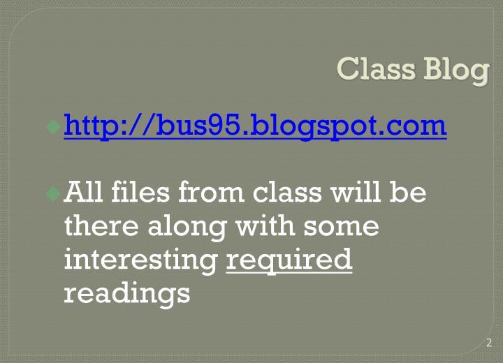 Class blog