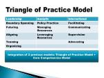 triangle of practice model