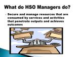 what do hso managers do
