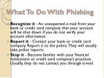 what to do with phishing