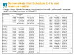 demonstrate that schedule e 7 is not revenue neutral1